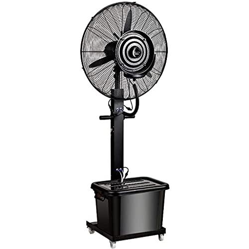 yanzz Ventiladores Ventilador oscilante de nebulización de Servicio Pesado Circulador de Aire frío de Alta Velocidad Potente Ventilador de Piso con 3 configuraciones de Velocidad, Ventilador de PE