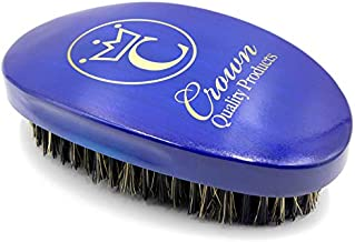"""Crown Quality Products Royal Blue Medium Bristle Contour Wave Brush - """"THE ORIGINAL"""" Curved Wave Brush - 360 Waves in Days"""