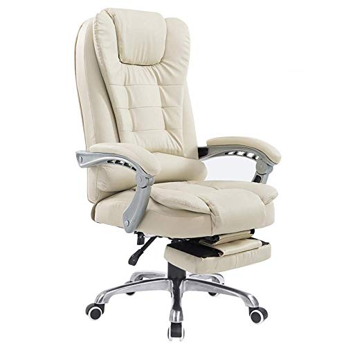 Ygqbgy Diseño Firma - sillas de Comedor - Set - de Mediados de Siglo Estilo Moderno Metal comun - Asiento de Cuero de imitación de Cubo (Color : Beige)