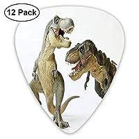 ティラノサウルス エレクトリックギターアコースティックギターマンドリンとベース用のクラシックギターピックセット(12パック) One Size