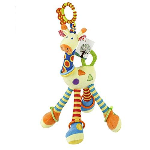 Peluche interactivo YKS - Bebé Jirafa felpa juguete infantil toys (amarrillo)