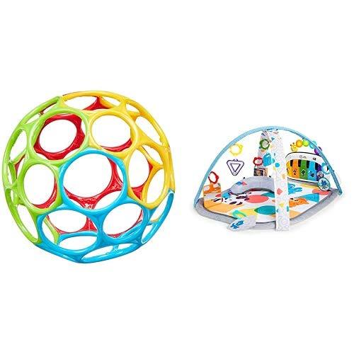 Bright Starts Oball Bola de Colores + Baby Einstein Gimnasio de Actividades y Descubrimiento