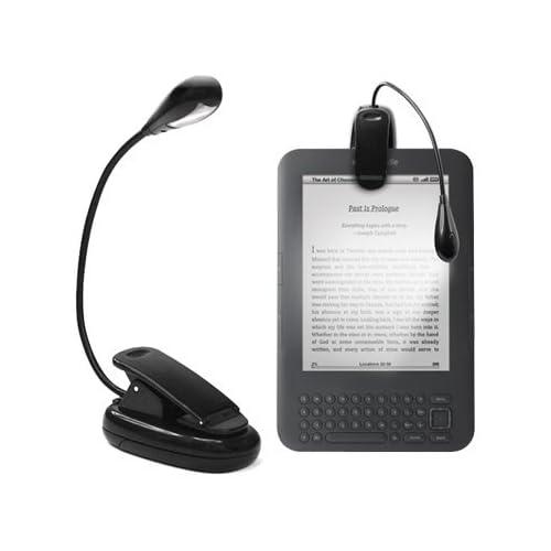 GadgetBoy lampada a LED/luce di lettura con fermaglio e braccio flessibile per libri e tutti i Kindle di Amazon touch Paperwhite e-reader tablet iPad Kobo portatili mappe e leggii nero