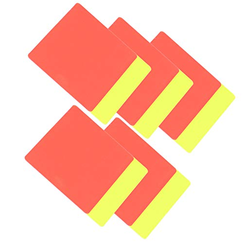 Deror 5 Set di cartellini Rossi e Gialli di Calcio, Arbitro di Calcio Sportivo Set di cartellini Rossi e Gialli di Avvertimento di Calcio e Carte di espulsione