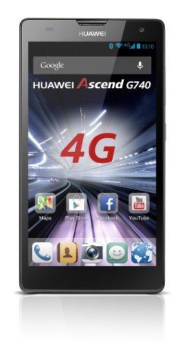 Huawei Ascend G740 Smartphone (12,7 cm (5 Zoll) Display, 8 Megapixel Kamera, 8 GB Interner Speicher, Android 4.1) grau/blau