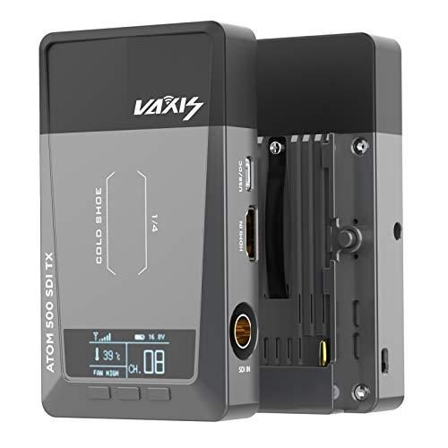 Vaxis Atom 500 Sistema di Trasmissione Video Senza Fili SDI HDMI Doppia Interfaccia per DSLR Fotocamera HD Telefono Mobile APP Monitoring(Vaxis ATOM 500 SDI Version)