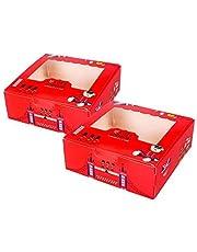 LAPONO - Juego de 15 cajas de papel para galletas, cupcakes, pastelería, embalaje de regalo, cajas de regalo, cajas para hornear, 20,3 cm