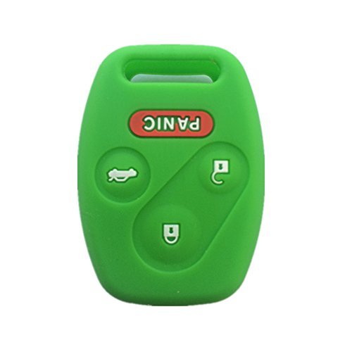 Green Silicone Rubber Keyless Entry Remote Key Fob Case Skin Cover Protector for Honda 3+1 Buttons