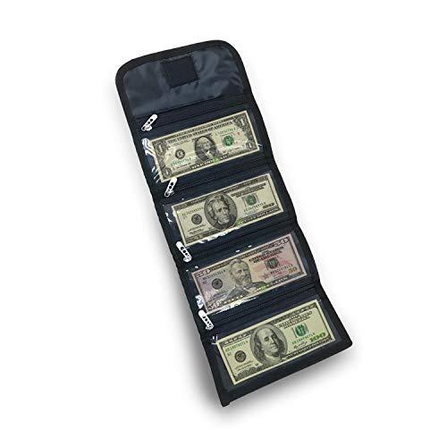 Tidy Pockets - Money Organizer - Cash Wallets - 4 Zipper Slots - money organizer for cash budget wallet