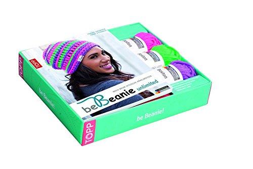 Kreativ-Set: be Beanie! Stylische Häkelmützen: Buch mit 85g Wolle in 3 Farben, Häkelnadel und Label (Buch plus Material)