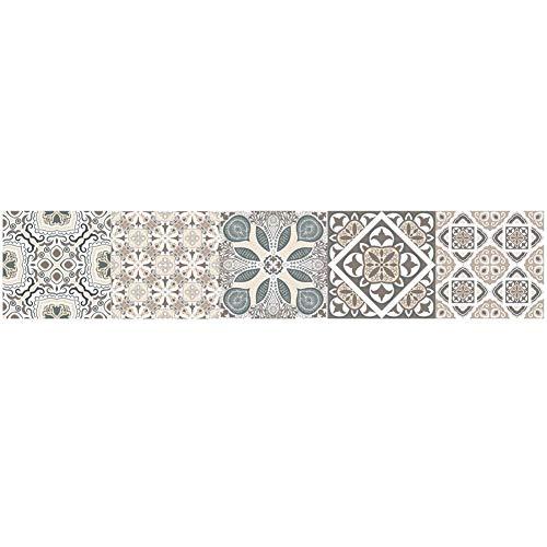 PiniceCore Adhesivo de azulejo para la Cocina Cuarto de baño de PVC Auto-Adhesivo de Pegatinas de Pared de la Sala Decoración Papel Impermeable de la Etiqueta