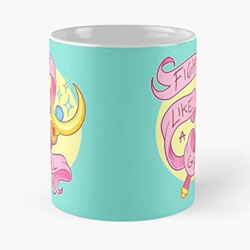 5TheWay Kawaii Anime Girl Power Feminism Magical Moon Mahou Sailor Pastel Shoujo - Best 11 oz Kaffeebecher - Nespresso Tassen Kaffee Motive