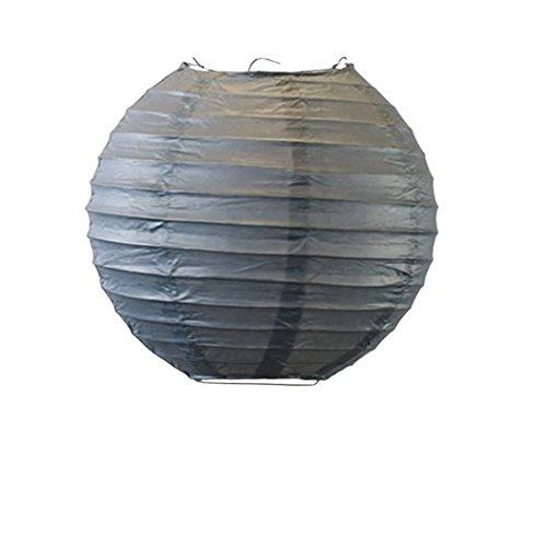 Matissa Papierlaternen, 25 cm, 6 Stück (grau)