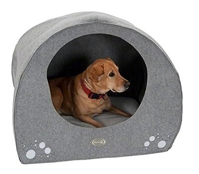 Cómoda guarida para perro en forma de iglú con un suave extraíble cojín de la cama tu perro se sienta cómodo en este precioso da su perro privacidad y protección por excelencia de comercio electrónico