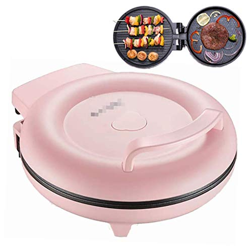 Mini Pancake Maker, Elektrische Ronde bakplaat voor pannenkoeken, kleine koekenpan Dubbelzijdig Verwarming, Mini Maker Electric Ronde bakplaat voor individuele pannenkoeken, koekjes