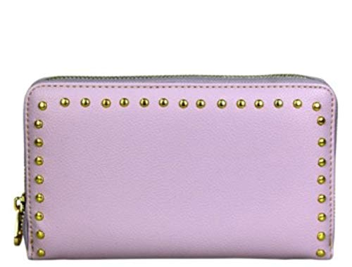 Montana West Studs Collection Phone Charging Clutch Wristlet. Wallet (Purple)