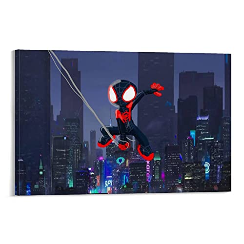 Poster wall art Comic Mini Superhero Spiderman Action Art Home wall decoration crafts Living room bedroom picture frame 24x36inch(60x90cm)