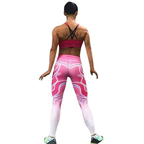 Vovo Vrouwen dames-dames/meiszak, roze 3D cellulaire geprinte hoge taille yoga fitness leggings ademend lopende gym-uitbreiding sportbroek voor vrouwen