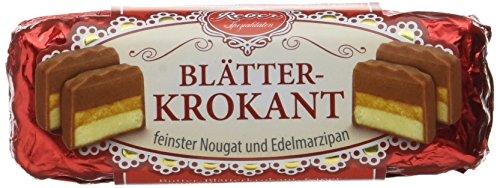 Reber Blätterkrokant-Pastete, Alpenmilch-Schokolade, Marzipan, Nougat, Tolles Geschenk, 6 Stück