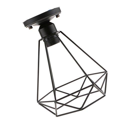 B Blesiya Lampe Suspension Abat-jour Plafonnier Cage Applique Murale Douille Lustre Vintage Retro Industrielle