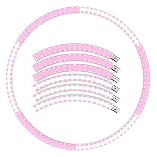 Best Deals! WWY 6 Detachable Fitness Hoola Hoop Portable and Easy to Assemble Stainless Steel Tube C...