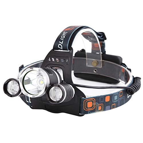 Linterna de cabeza LED, faro USB, faro de alto lumen más brillante USB recargable LED linterna de trabajo impermeable para correr camping pesca