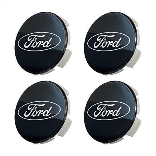 Set of Four 2 5/8' Black Wheel Center Caps for 2015-2020 F-150