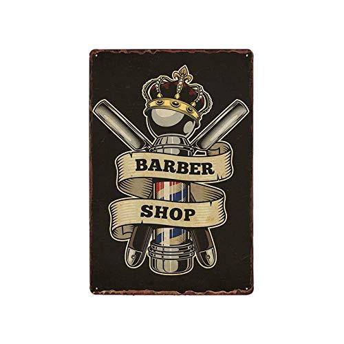 ZYZRYP Vintage Barbershop Metal Sign Barbershop Poster Cafe Bar Pub Retro Plaque 63053