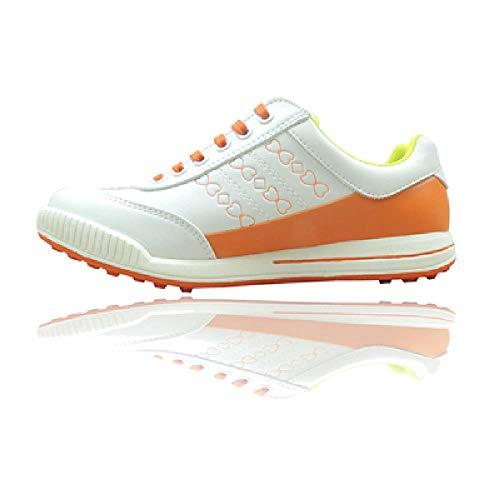 U/A Damen Golfschuhe Wasserdicht, atmungsaktiv, ohne Nieten, rutschfest, ultraleichte Sportschuhe, guter Griff, Leder und Kleidung