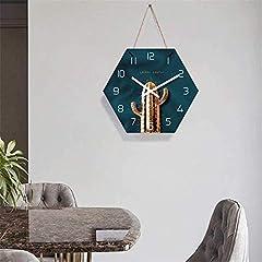 TIANYOU Wall Clock Cactus Bracket Clock Lanyard Clock Acrylic Silent Wall Clock Living Room Bedrooms Kitchen Bracket Clock 14 Inches No Ticking #3