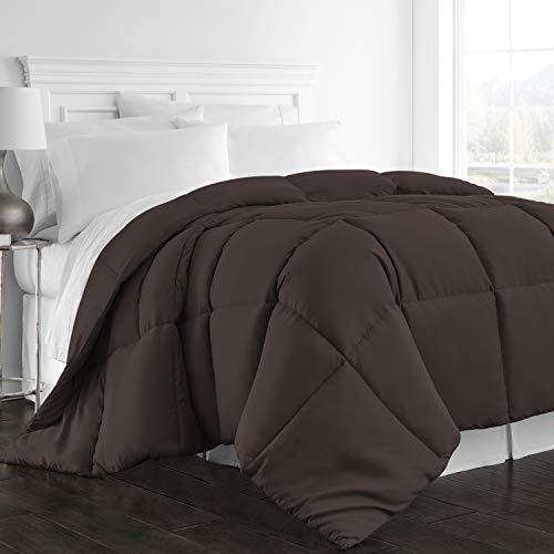 Beckham Hotel Collection 1300 Series - All Season - Luxury Goose Down Alternative Comforter - Hypoallergenic - Queen/Full - Chocolate