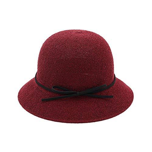 XIEQUN Hoed lente zomer dames zonnehoed boog wastafel cap losse zonnebrandcrème visser hoed outdoor reizen strand hoed M56-58cm Klaret