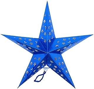 Christmas Decor Blue Star Christmas Tree Topper Dimensional Star Christmas Ornaments Christmas Tree Set (Blue)