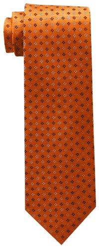 Tommy Hilfiger mens Core Neat Ii neckties, Orange, Regular US