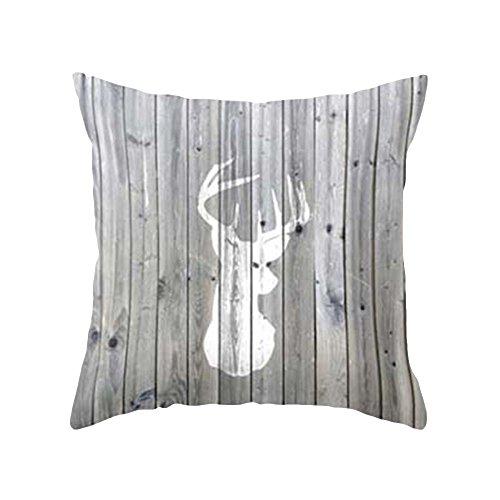 Teenxful Bluelans géométrique rayé Couvre-lit Taie d'oreiller Maison Canapé Fleur décoratif Housse de coussin, Polyester, 12#, 45cm x 45cm/17.72\