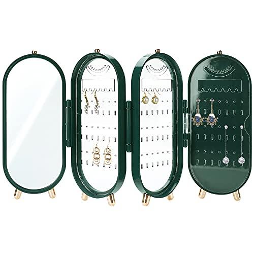 Organizador de pendientes de joyería colgante, Joyero vertical elegante, soporte de almacenamiento de joyería duradero para mujeres minoristas en el hogar, (153 ranuras para pendientes y 24 muescas)
