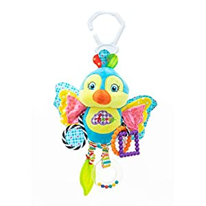 RichChoice Baby Bird Portable Toys:1-6-9-12 Month,1-2-3 Year Old Crib Bed,Car Seat, Stroller, Activity,Travel Hanging Toys;Kids Educational Toys with Crinkle,Rattle,Teether,Squeaker,Mirror