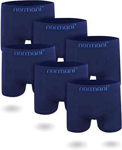 normani 6 oder 12 Mikrofaser-Unterhosen für Herren   atmungsaktive Sport-Funktions-Unterwäsche   Boxershorts   Retroshorts für Männer (Gr. S-3XL) Farbe 6 x Blau Größe XXL/3XL