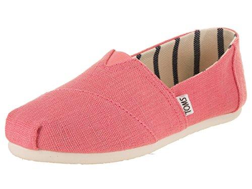 TOMS Damen Klassiker Heritage Canvas Espadrille Sneakers Schuh-Rosa