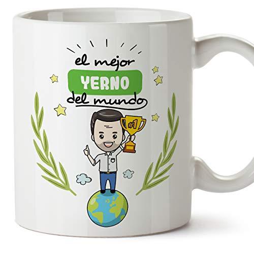 MUGFFINS Taza Yerno -Familiares Mundo -Regalos Originales y Divertidos -Tazas de Café...