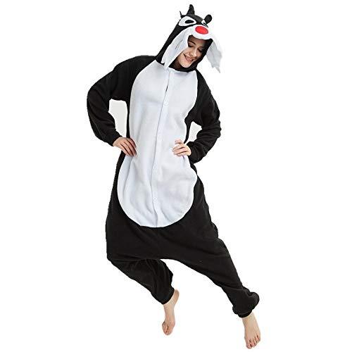 XiXiBoom Nuevo Traje de Lana Animal Adulto Hembra Hombres Pijama Halloween Carnaval Fiesta Disfraz Disfraces de Disfraces