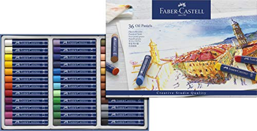 Giz Pastel Oleoso Goldfaber 36 Cores, Faber-Castell