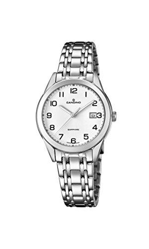 Candino Damen Datum klassisch Quarz Uhr mit Edelstahl Armband C4615/1