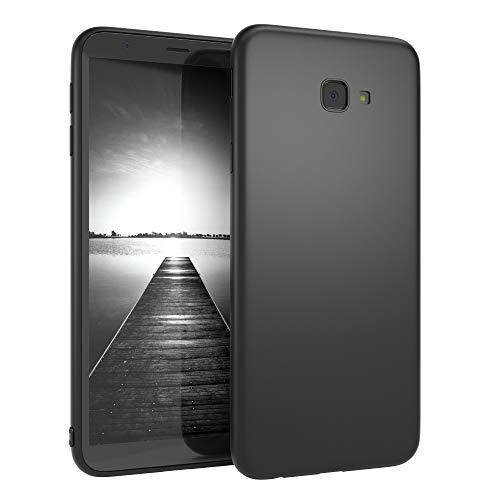 EAZY CASE Handyhülle Silikon mit Kameraschutz kompatibel mit Samsung Galaxy J4 Plus in schwarz matt, Ultra dünn, Slimcover, Silikonhülle, Hülle, Softcase, Backcover