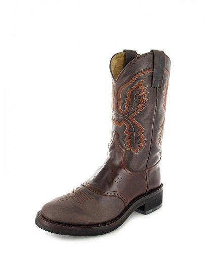 Sendra Boots Tang 5357 Bottes d'équitation en teck pour homme et femme Marron - Marron - Chocolate Seahorse, 46 EU