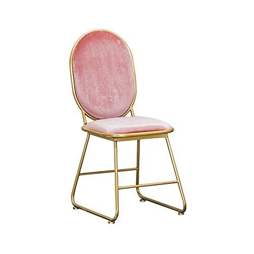 LJHA dengzi Chaise De Salle À Manger, Livre Et Tabouret De Table, Fauteuil, avec Banc en Tissu + Pieds en Métal, 4 Couleurs chaises Longues