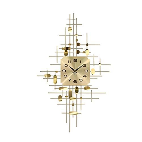 wall clock-Q Wohnaccessoires-QFF Stereoskopischen Dekoration Wanduhr, Wanduhr Mute Metall Wanduhr einfache goldene Wanduhr Familiennutzung (Size : 90 * 55cm)
