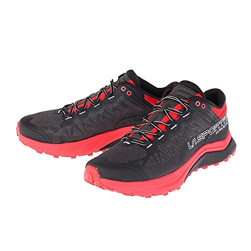 LA SPORTIVA Karacal, Zapatillas de Trail Running Hombre, Black/Goji, 41 EU