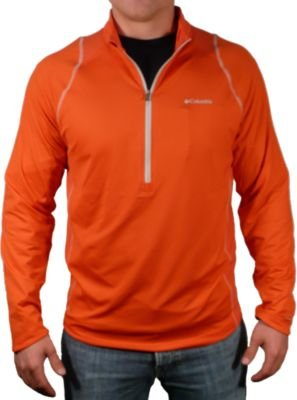 Columbia Anytime Active - Camisa de manga larga con cremallera de 1/2 (mediano, bronco)
