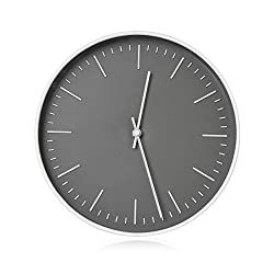 RCA RCWC10WG Wall Clock, 10 Round - Grey. Decorative Wall Clock - Battery Operated Quartz Accuracy - Large Display Clock